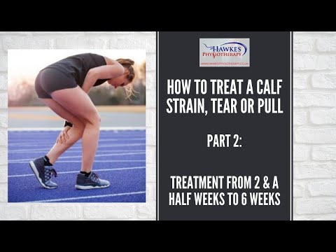 How to treat a calf strain, tear or pull. Part 2: Treatment from 2 & a half weeks to 6 weeks