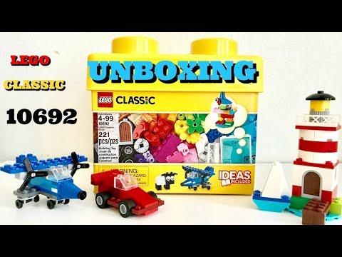 LEGO CLASSIC 10692 UNBOXING|HOW TO BUILD LEGO AIRPLANE CAR LIGHTHOUSE