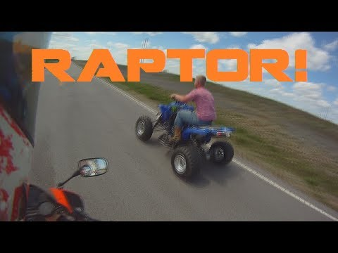 Yamaha Raptor Top Speed!