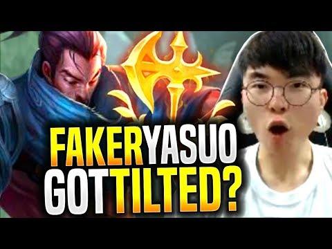 Faker Got Tilted Playing Yasuo!? - SKT T1 Faker Picks Yasuo Mid! | SKT T1 Replays