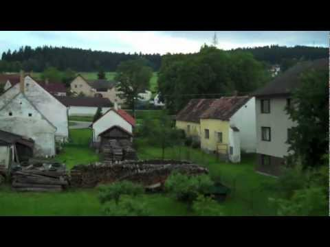 Small Towns & Villages in South Bohemia from Czech Railways Train