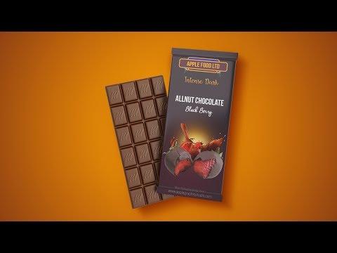 Chocolate Bar Packaging Design - Photoshop Tutorial