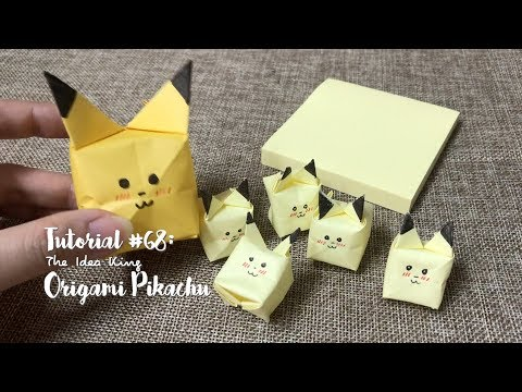 How to DIY Origami Pikachu with sticky notes? | The Idea King Tutorial #68