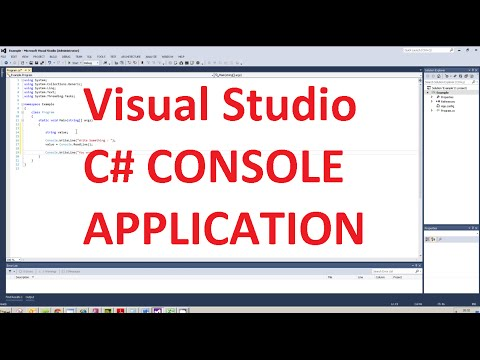 How to create a console application in Visual Studio 2012 with c#