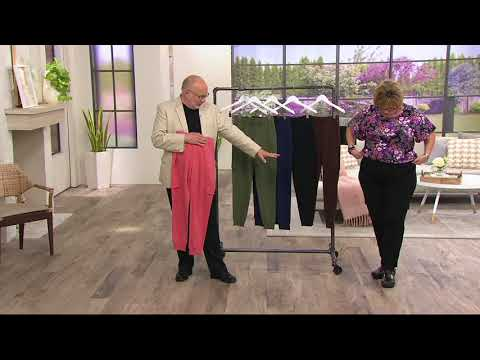 Denim & Co. Active French Terry Cargo Pants with Rib Cuffs on QVC