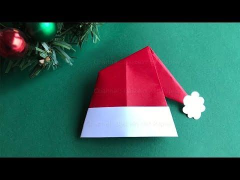 Origami Weihnachten: Nikolausmütze basteln mit Papier - DIY Weihnachtsgeschenke selber machen