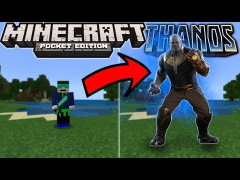How To Become THANOS In Minecraft PE 1.4+