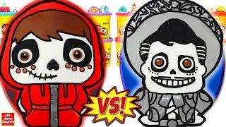 Huevos Sorpresa Gigantes de Coco La Pelicula Miguel VS Ernesto en Español de Plastilina Play Doh
