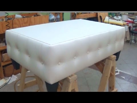 HOW TO MAKE A COFFEE TABLE WITH BUTTONS - ALO Upholstery