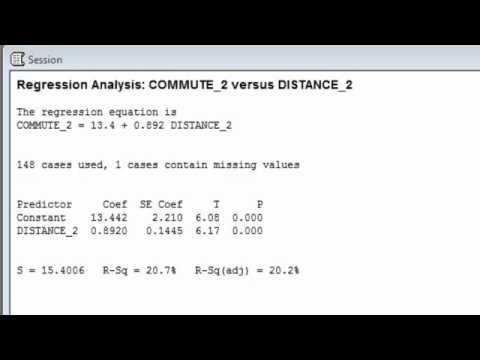 Regression 2 - Interpreting Key Statistics (Minitab).mp4