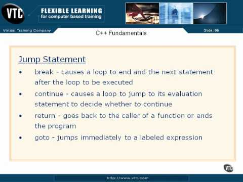 05  C++ Enums     26  Jump Statements