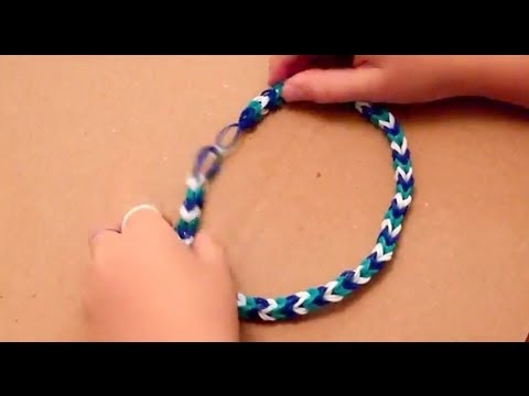 Make a Double Fishtail Rubber Band Necklace with Tweezers (without a loom)