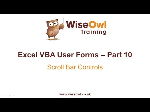 Excel VBA Forms Part 10 - Scroll Bar Controls