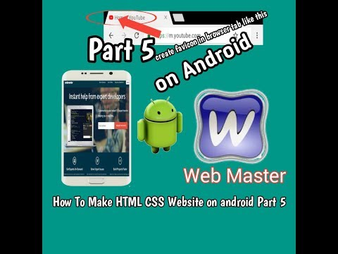 [How To make HTML CSS website on android part 5] Create favicon in Browser Tab on android