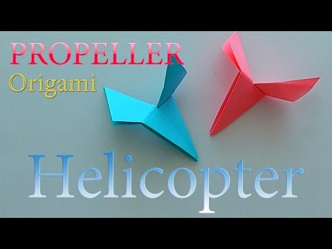How to make a Paper Helicopter (Propeller)? Origami for Boys. Origami Game