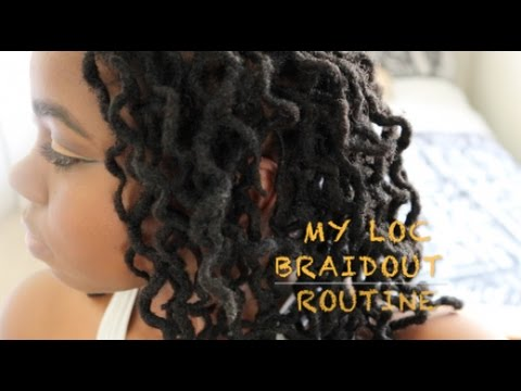 LOC BRAID OUT TUTORIAL | HOW TO GET CURLY LOCS/DREADS