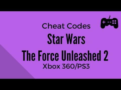 Star Wars The Force Unleashed 2 Cheat Codes - Xbox 360 and Playstation 3 (PS3)