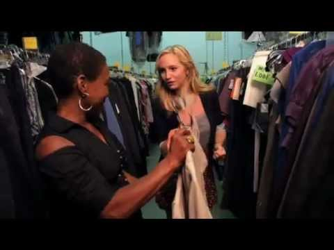 Inside The Vampire Diaries - Candice on set (with the costume designer)