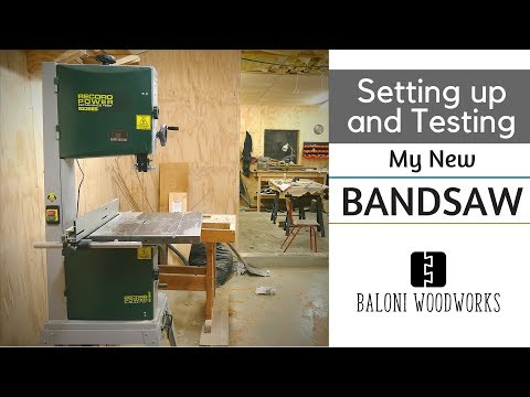 Setting up and Testing my NEW BANDSAW // Record Power BS350S