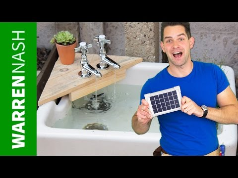 Solar Water Feature for Gardens - Made with Belfast Sink - Easy DIY by Warren Nash