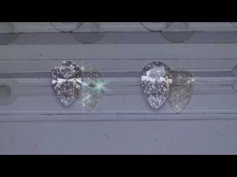 Pear Shaped Diamond Comparison: .92ct G VS1 vs 1.08ct D VVS2