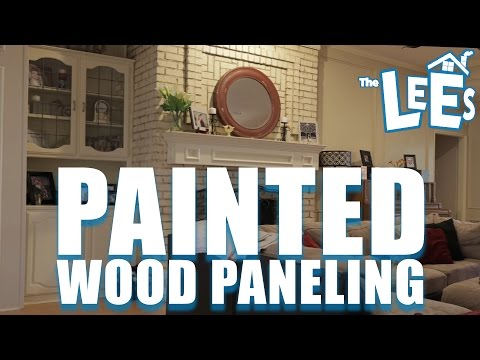 We Painted Our Wood Paneling!