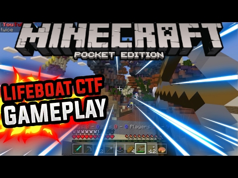 EPIC BOW KILLS!!!! - Minecraft Pocket Edition (Minecraft PE) Lifeboat Capture The Flag Gameplay