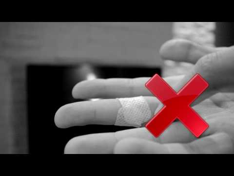 How to apply band-aid on or near the fingertips