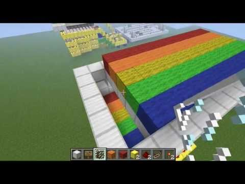 Minecraft- How to make a simple MINIGAME 1.12.2 (Rainbow runner) PART (2/2)