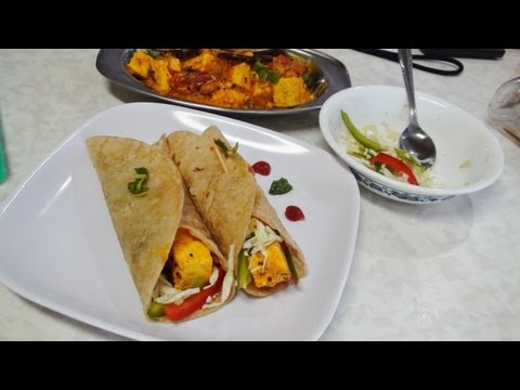 Achari Paneer Kathi Rolls Video Recipe- Indian Recipes by Bhavna