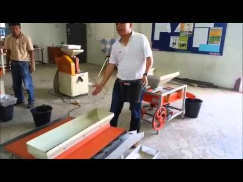 Rice separator machine for paddy field in Thailand