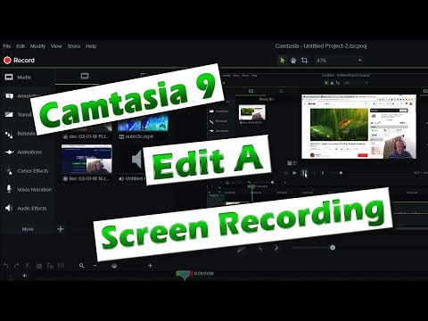 Camtasia 9 - Getting Started 02 - Editing A Screen Recording