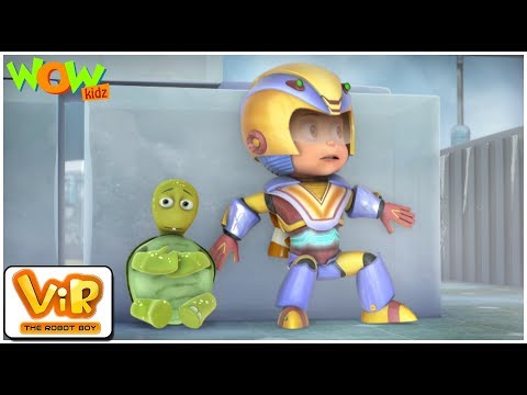 The Turtle Alien | Vir: The Robot Boy | ENGLISH, SPANISH & FRENCH SUBTITLES | WowKidz