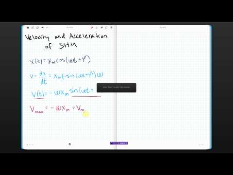 Simple Harmonic Motion Velocity and Acceleration