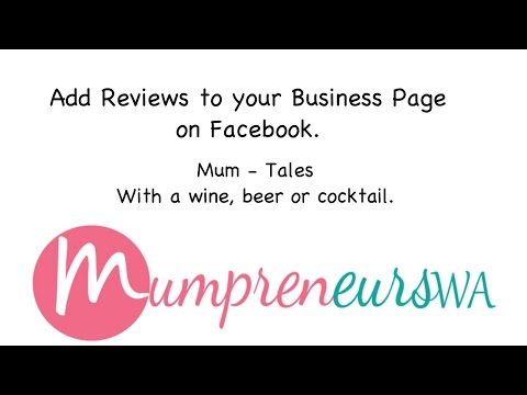 Add Reviews to your business page on Facebook