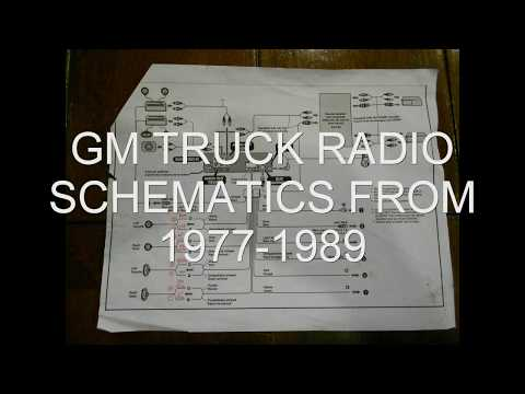 GM TRUCK RADIO SCHEMATICS 1977-1989