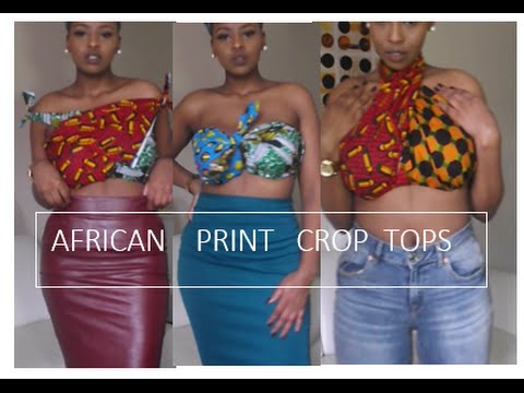 Easy African Print DIY Tops: No Sewing [South African Youtuber]