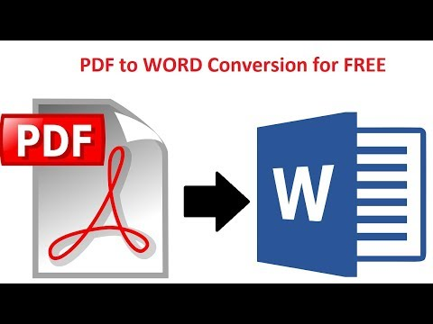 How to convert PDF to Word Without Software - Free File Conversion