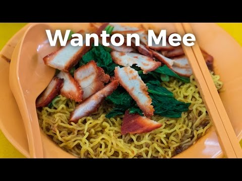 Wanton Mee in Singapore (with Extra Sambal!)