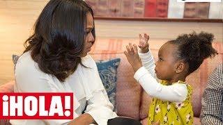 El divertido BAILE de MICHELLE OBAMA con una niña de dos años que arrasa en las redes
