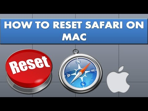 How to reset safari on Mac?