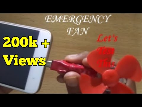 how to make a micro usb fan for mobile at home / emergeny