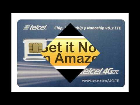 Telcel Mexico Prepaid SIM Card - Basic SIM (LTE 3 in 1 Fits All Devices)