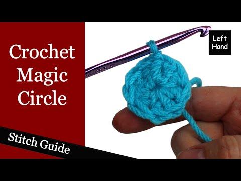 Crochet Magic Circle - (Left Hand) Stitch Guide