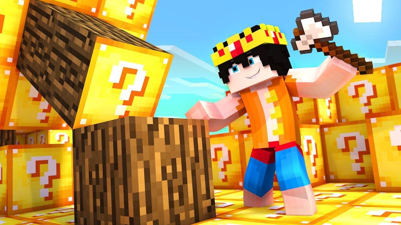 Minecraft PERO el mundo entero es de LUCKY BLOCKS!! 😱 (Minecraft Lucky Block Mod)