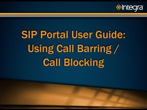 SIP Trunking Portal Guide: Using Call Barring-Call Blocking