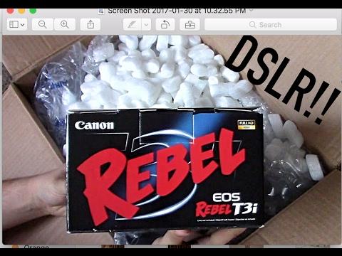 NEW CAMERA! Canon T3i DSLR Unboxing!