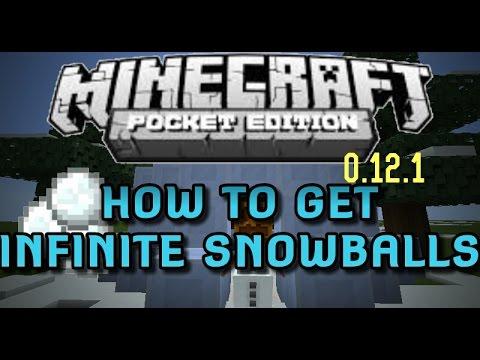 How To Get Infinite Snowballs-Minecraft P.E 0.12.1