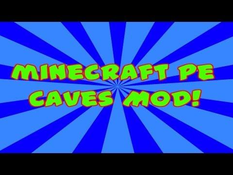 Minecraft PE Caves Mod Tutorial