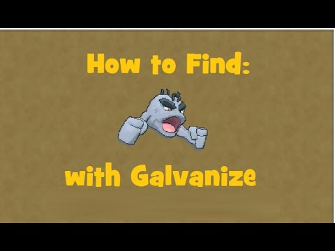 How to find: Alolan Geodude with Galvanize
